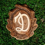 Wooden logo sign - Macedonian wood carving