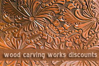 Wood carving works discounts at High Hills studio