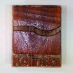 Kolinska logo (company from Slovenia / Slovenija) - wood carving