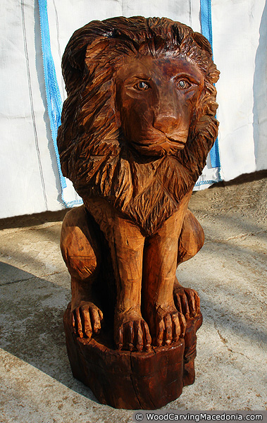 Lion wood carvings bing images