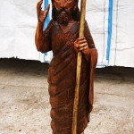 Saint John The Baptist sculpture - chainsaw woodcarving (Sveti Jovan Krstitel - skulptura)