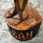 Saint John The Baptist sculpture (feet) - chainsaw wood carving