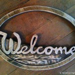 Wooden welcome sign - Wood Carving Macedonia