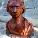 George Washington - wooden sculpture (front)
