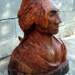 George Washington - wooden sculpture (right side)