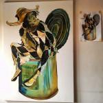 Harlequin - oil on canvas (oil painting) / Paljacho (slika, maslo na platno)