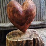 Heart in wood (3D wooden sculpture) / Srce od drvo (drvena skulptura)