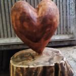 Heart in wood (3D wooden sculpture) / Srce od drvo (drvena skulptura)
