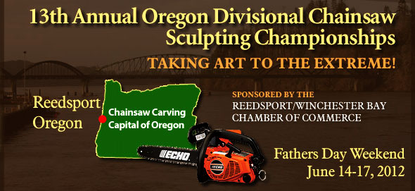 Vinko Bogdanoski at 13th Annual Oregon Divisional Chainsaw Sculpting Championships in Reedsport (OR, United States)